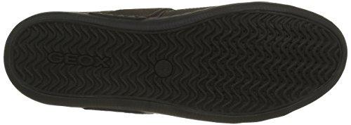 Geox U BOX C, Zapatillas para Hombre, Grau (DK Grey/BLACKC0062), 45 EU