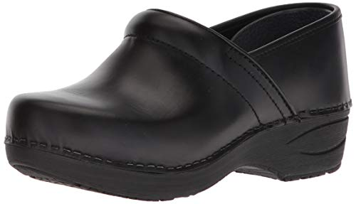 Dansko Women's XP 2.0 Clog, Black Pull Up, 40 Medium EU (9.5-10 US) (Leather Footwear Brandy)