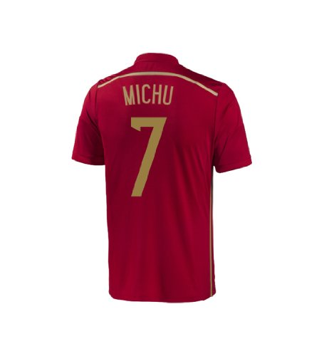 Adidas MICHU #7 Spain Home Jersey World Cup 2014 YOUTH (YS)