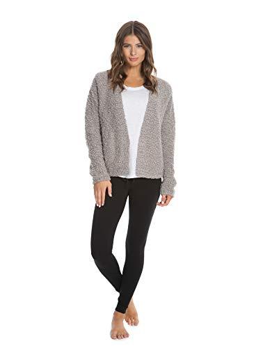 (Barefoot Dreams Boucle Cardi, Women Long Sleeve Cardi, Open Front Oversized Sweaters)