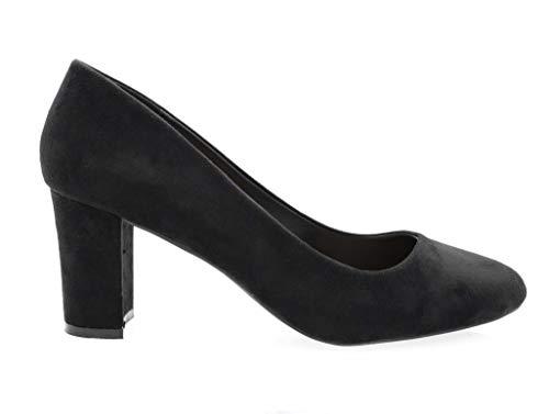 Bloc Chaussure Bureau Soirée Noir Femme Escarpin Chic Cm Talon Mode Tendance Mariage 8 Daim Haut Gros Elégant 6RYRZIgBq
