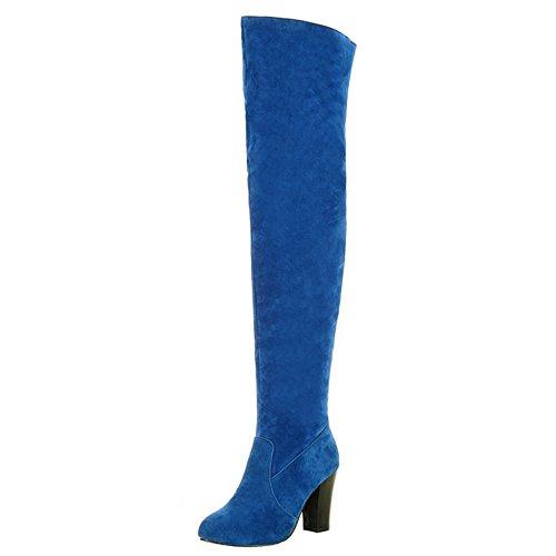 Bottes Half RAZAMAZA Blue Eclair Fermeture Femmes 15Sqxnwqp