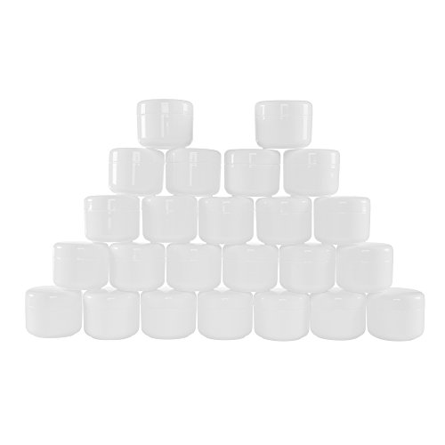 White 2 Ounce Plastic Jar Containers, 24