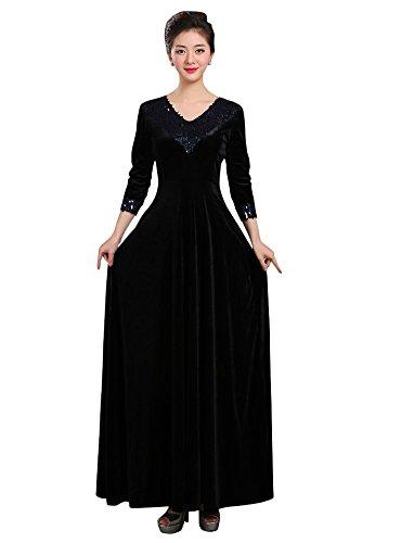 Kleid Drasawee Empire Damen Damen Schwarz Kleid Drasawee Drasawee Schwarz Empire Damen IqwrUIz