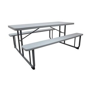Remarkable Amazon Com Industrial Grade 12F621 Picnic Table 6 Ft Kd Interior Design Ideas Clesiryabchikinfo