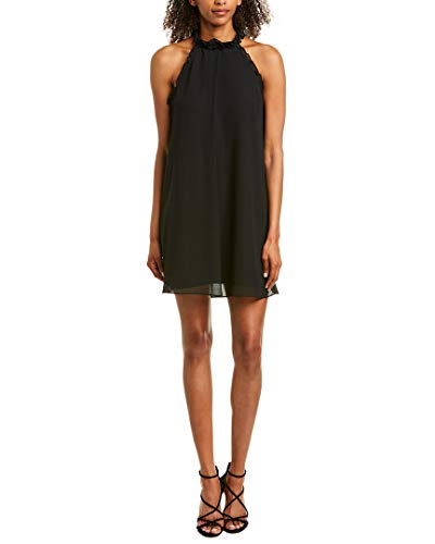 - BCBGeneration Women's Ruffle Trimmed A-LINE Dress, Black, S