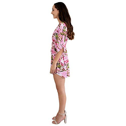 ed4e83662aa ISLAND STYLE CLOTHING Ladies Kaftan Poncho Dress Flamingo Floral Womens  Swimsuit Beach Cover-Up