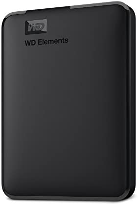 WD 1TB Elements Portable External Hard Drive HDD, USB 3.0, Compatible with PC, Mac, PS4 & Xbox - WDBUZG0010BBK-WESN