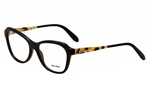 Miu Miu Eyeglasses Women's VMU01NA VMU/01NA 1AB-1O1 Black Optical Frame - Eyeglasses Asian