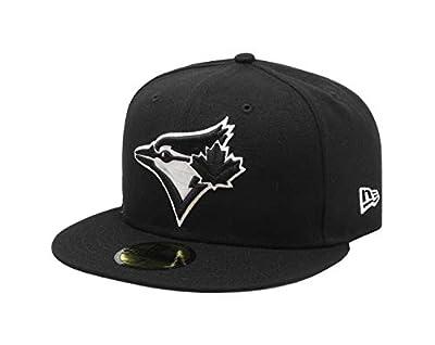 New Era 59Fifty Hat MLB Basic Toronto Blue Jays Black/White Fitted Baseball Cap