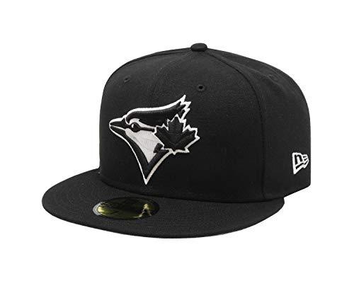 New Era 59Fifty Hat MLB Basic Toronto Blue Jays Black/White Fitted Baseball Cap (7)
