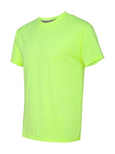 Hanes Men's X-Temp Crewneck Short-Sleeve T-Shirt (Medium), Neon Lemon Heather ()