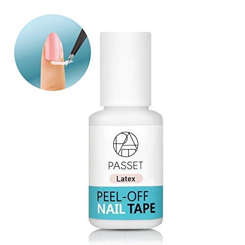 KPOST Liquid Latex Peel-Off Nail Tape, Quick Dry Cuticle Guard, Brush Type [7g]