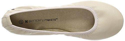 Butterfly Twists Womens Sophia Ballet Flat Nude