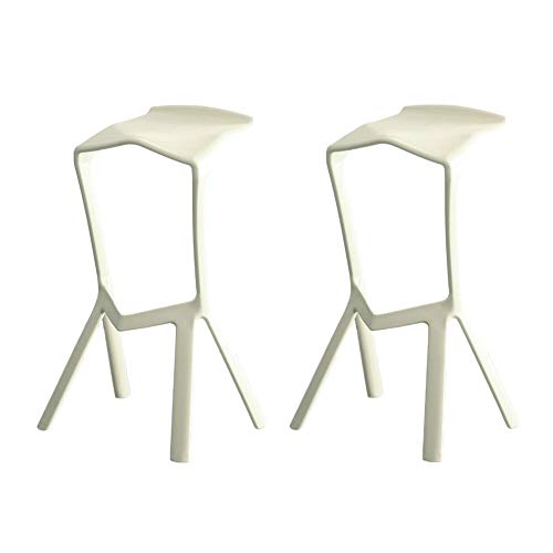 2 PCS Bar Stools for Kitchen Pub Counter Chairs High Stools Outdoor and Indoor 5 Colours Available-White