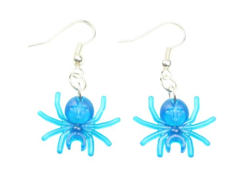 LEGO Spider Dangle Earring Jewelry (Trans Blue)