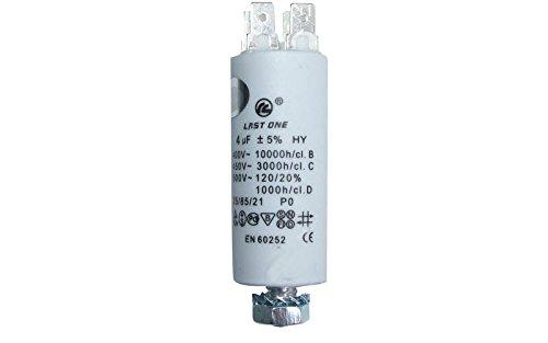 Condensateur Permanent 4µf 450v Référence : 9010424 Pour Lave Linge Divers Marques