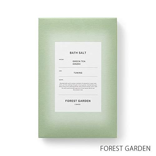 啓示肉屋グラフィック【薫玉堂】 バスソルト FOREST GARDEN 森の庭 緑 和 宇治茶の香り