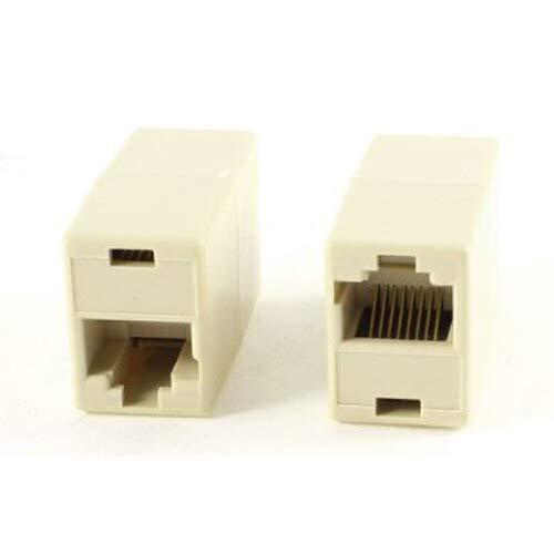 IMC Wholesale 10 Pcs RJ45 8P8C Double Ports Female Plug Telephone Connector BIN BON