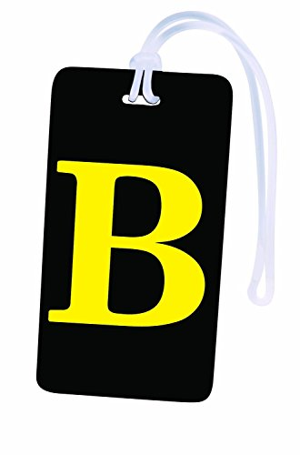 Initial Luggage Tag Personalized ID Tag A through Z (One size, B)