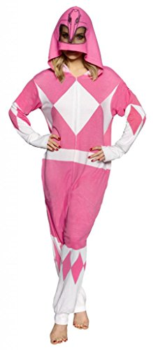 Power Ranger Suits Adults (Power Rangers Pink Ranger Adult One Piece Pajama Union Suit (XX-Large))