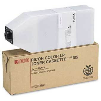 Ricoh Type 105 Original Brand (OEM) Copier Toner: Black 885372 (Toner Type 105 Copier)