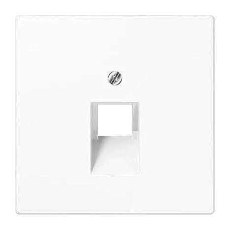 JUNG LS969-1UAWW Placa Central, Termoplástico (A Prueba de Golpes) Extrabrillante, Blanco Alpino