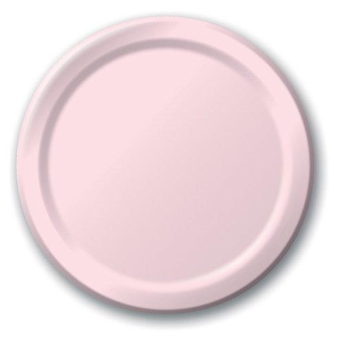 Creative Converting 24-Count Touch of Color Paper Banquet Plates, Classic Pink