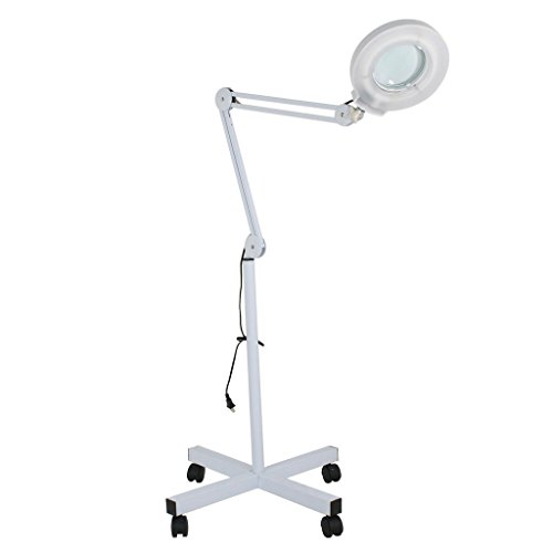 Assembly Extension Tube (Facial Magnifing Lamp Floor 5 Diopter LED Magnifier Light W/Adjustable Swivel Arm And Rolling Stand For Beauty Salon Skincare Manicure Tattoo)