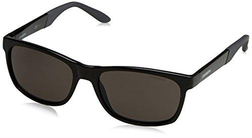 - Carrera Plastic Rectangular Sunglasses 56 0D28 Shiny Black M9 gray polarized lens