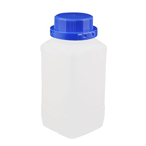 DealMux 1000ml Plastic Square Wide Mouth Chemical Sample Reagent Bottle Thickening DLM-B01MRISB9N