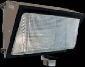 RAB Lighting WP2F42MS WP2 180 Deg View Smartpack Adjustable Mini Sensor CFL Wallpack, Triple Type, Aluminum, 42W Power, 3200 Lumens, 277V, Bronze Color