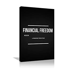 AMEMNY Finanical Freedom Noun Motivational Canvas Wall Art Painting Inspirational Entrepreneur Quotes Print Poster…