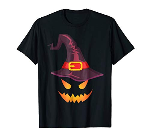 Scary eyes of pumpkin and hat - Halloween Costume T-shirt ()