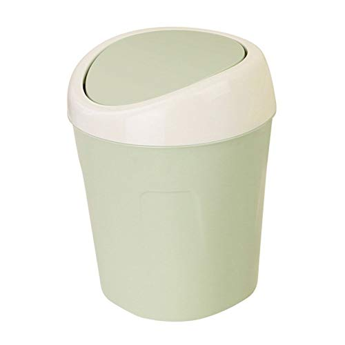 Waste Bins - Plastic Mini Table Dustbin Sundries Barrel Storage Tank Desktop Car Garbage Can Trash Home Office - Waste Drawer Pull Sink Container Stickers Door Band Gallon Paris Rubbed In