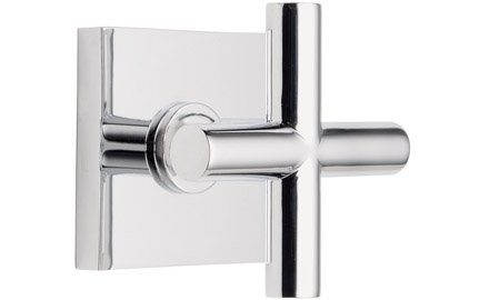 California Faucets TO-65-WC-PC Tiburon Collection Wall or Deck Handle Trim Only with Square Base Ring - Polished - California Faucets Trim Tiburon