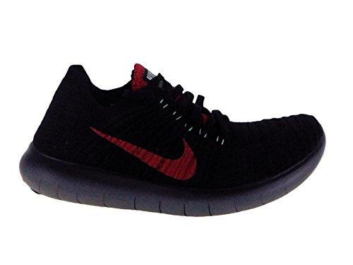 13ee3c74c75c4 Galleon - Nike Mens Free RN Flyknit Night Maroon Purple Dynasty Green Glow  Nylon Running Shoes 11 M US