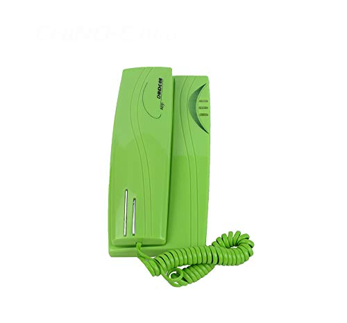 HQCC Mini Caller ID Telephone, Wall-Mounted Telephone Fixed Telephone Home Office landline Telephone (Color : Green)