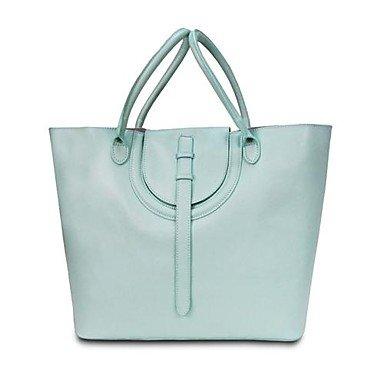 Women s Elegant Multifunctional Leather Tote Crossbady bags , Light Blue a584dfa0ca
