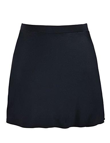 Wide Waistband Bikini Bottom (Mycoco Women's High Waist Swim skirt Bikini Bottom Swimdress UV 50+ Athletic Sports Skirt Black 18)