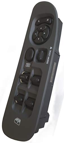SWITCHDOCTOR Window Master Switch & Medium Slate (Gray) Bezel Assembly for 2002-2009 Dodge Ram
