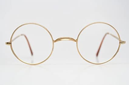 9b86a4a8c90 Image Unavailable. Image not available for. Colour  Giorgio Armani Round  Gold Vintage Glasses 1980 s ...