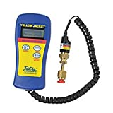 Yellow Jacket Hand-Held Vacuum Gauge, Deluxe, 32 to 122 deg F Ambient, 1/4 in Male Flare Connection, LED Display, Battery, Plastic