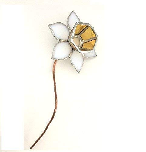 Stained Glass Daffodil (White & Yellow)