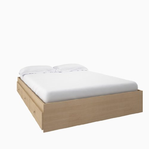 alegria full size storage bed from nexera natural maple