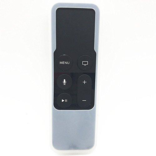 Hydream - Funda para Apple TV de 4ª generación, Carcasa de Silicona Protectora Ligera [Antideslizante] a Prueba de Golpes para Apple TV 4K /Gen 4 SiriRemote Controller, Transparente, Pequeño