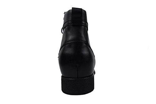 Zerimar Botas Con Elevadores Internos Para Hombres Incremento De 7 Cm Zapatillas De Cuero De Alta Calidad Color Negro Tamaño 38