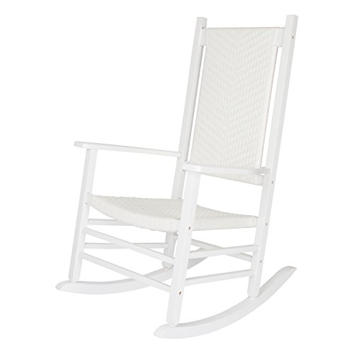 Shine Company Hampton Porch Rocker, White