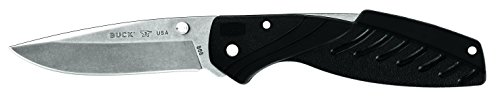 (Buck Knives 0366BKS Rival III Folding Knife with Pocket Clip, Black )