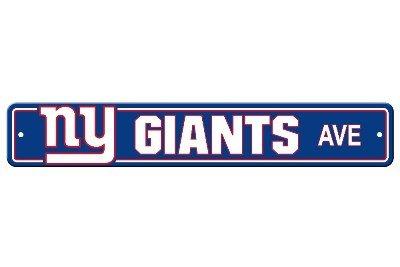 - New York Giants Plastic Street Sign